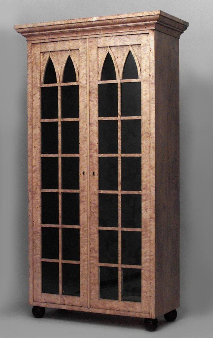 Biedermeier German Austrian Cabinet Case Piece Bookcase Birch Bookcase Antiques Online Furniture