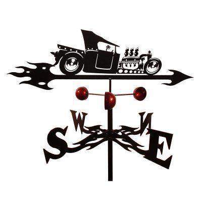 SWEN Products Farrell T-Bucket Rat Rod Weathervane - 9091-GARDEN