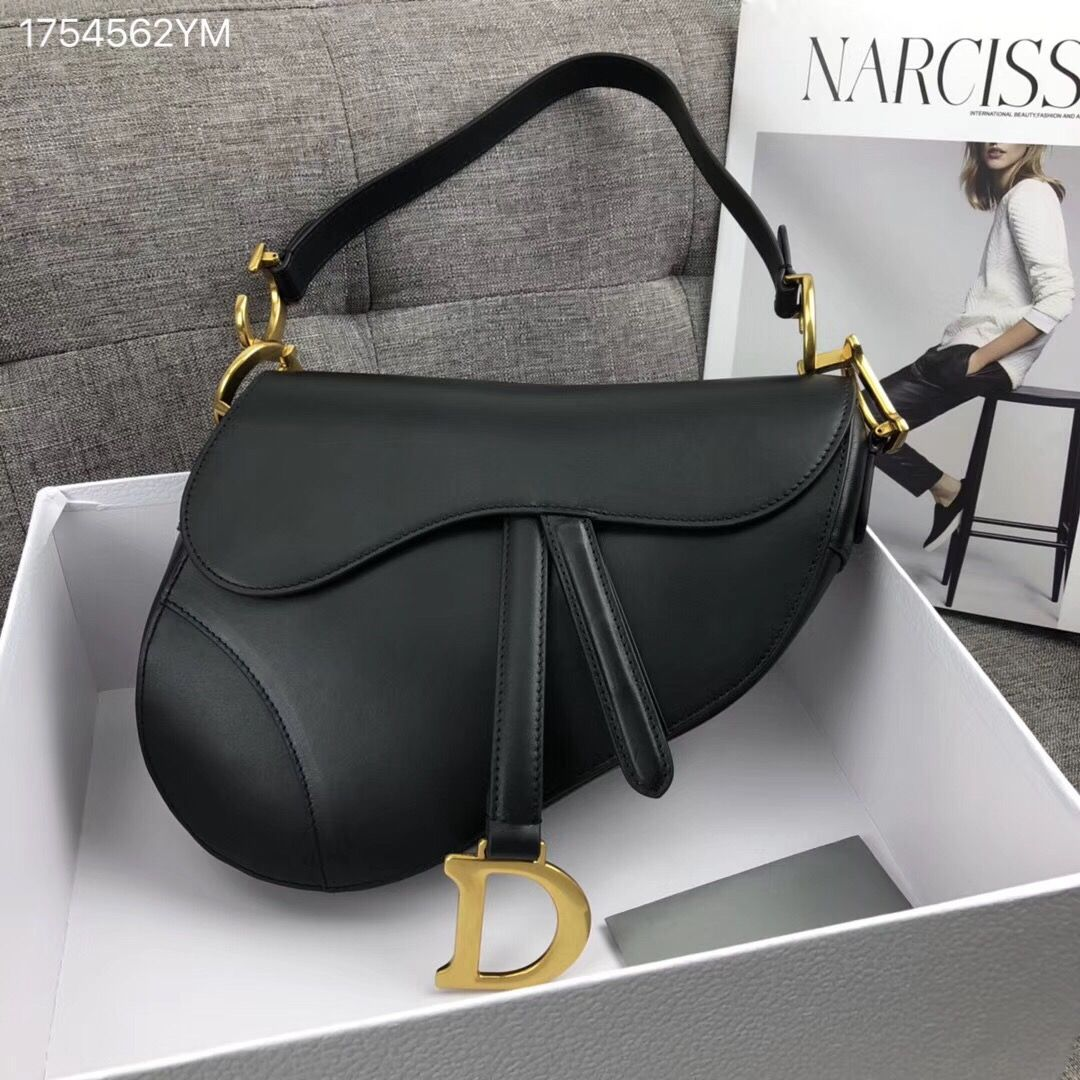 7055d2728aa8e Christian Dior CD woman saddle shoulder bag black | Dior bags in ...