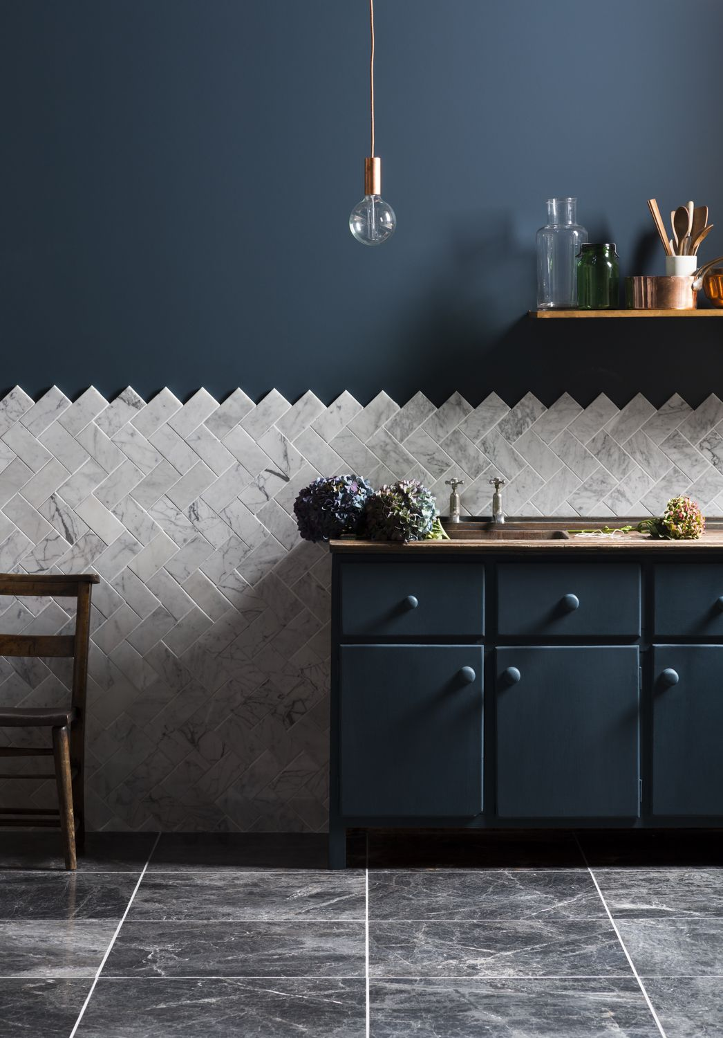 Inky blues and copper and marble thuis pinterest marbles