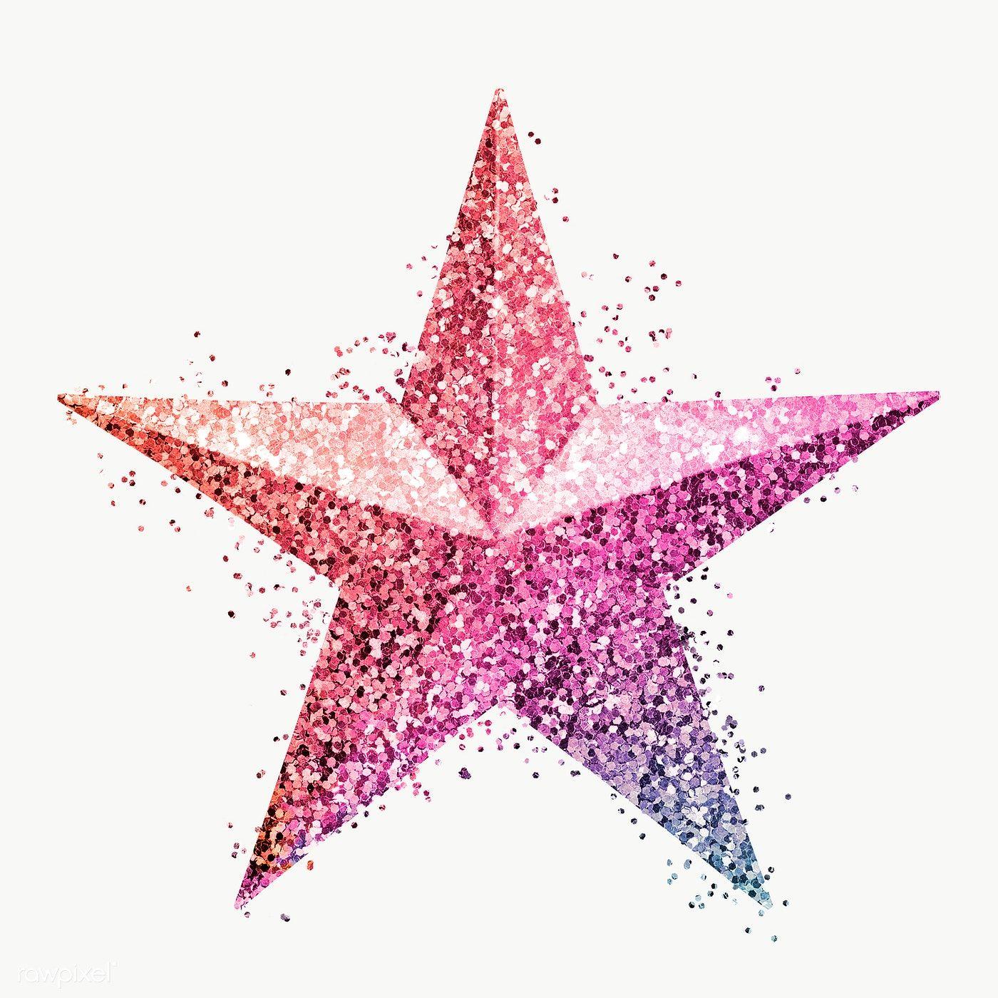 Glitter Magenta Star Design Element Free Image By Rawpixel Com Ployploy In 2020 Star Designs Star Stickers Design Element