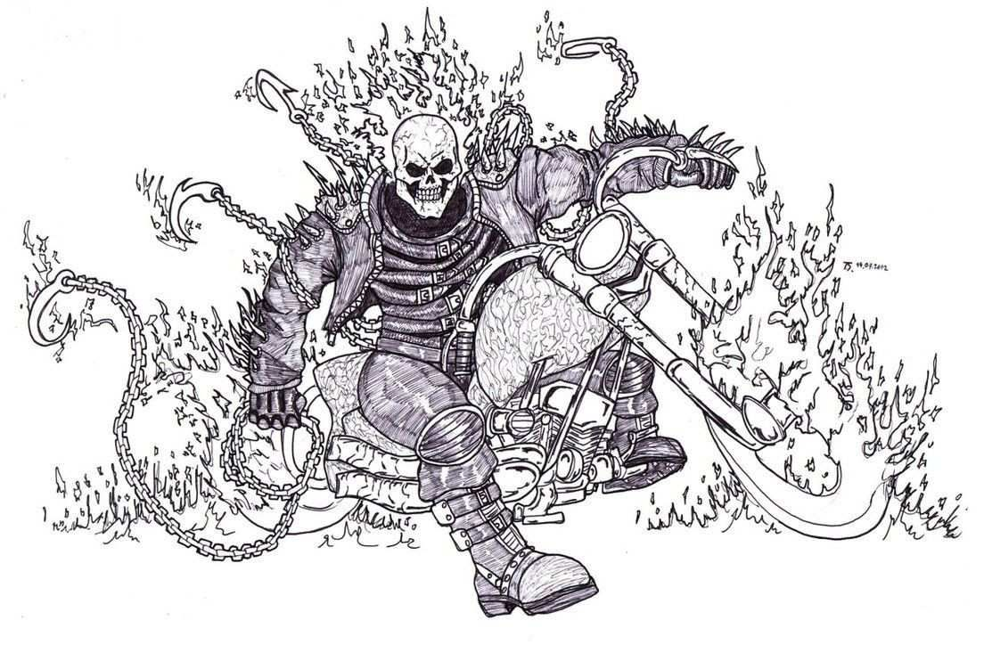 57 Elegant Ideas For Free Printable Ghost Rider Coloring Pages And Ghost Rider Tattoo Coloring Pages Toy Story Coloring Pages