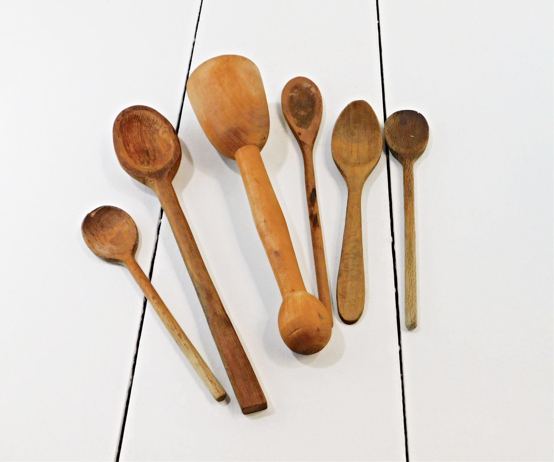 wooden kitchen utensils spoons masher vintage farmhouse ws5 wooden kitchen utensils on farmhouse kitchen utensils id=73756