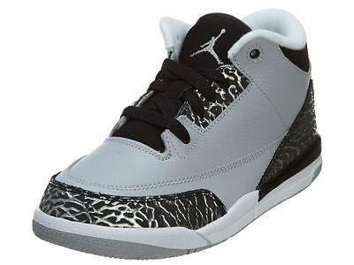 Nike Jordan 3 III Retro Ps Little Kids 429487-004 Wolf Grey Shoes Youth Size