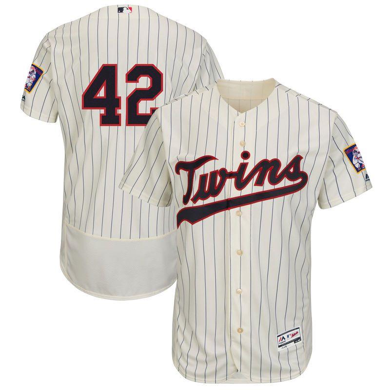 timeless design f976e 9baa7 Jackie Robinson Minnesota Twins Majestic Flex Base Jersey ...