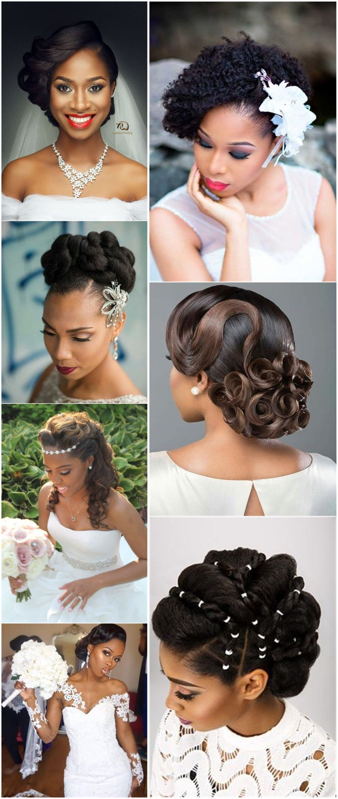20 Wedding Updo Hairstyles for Black Brides   Braided hairstyles ...