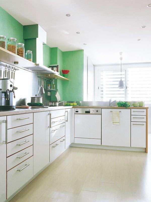 Cocinas prácticas y muy cómodas | Cocina verde, Verde y Cocinas