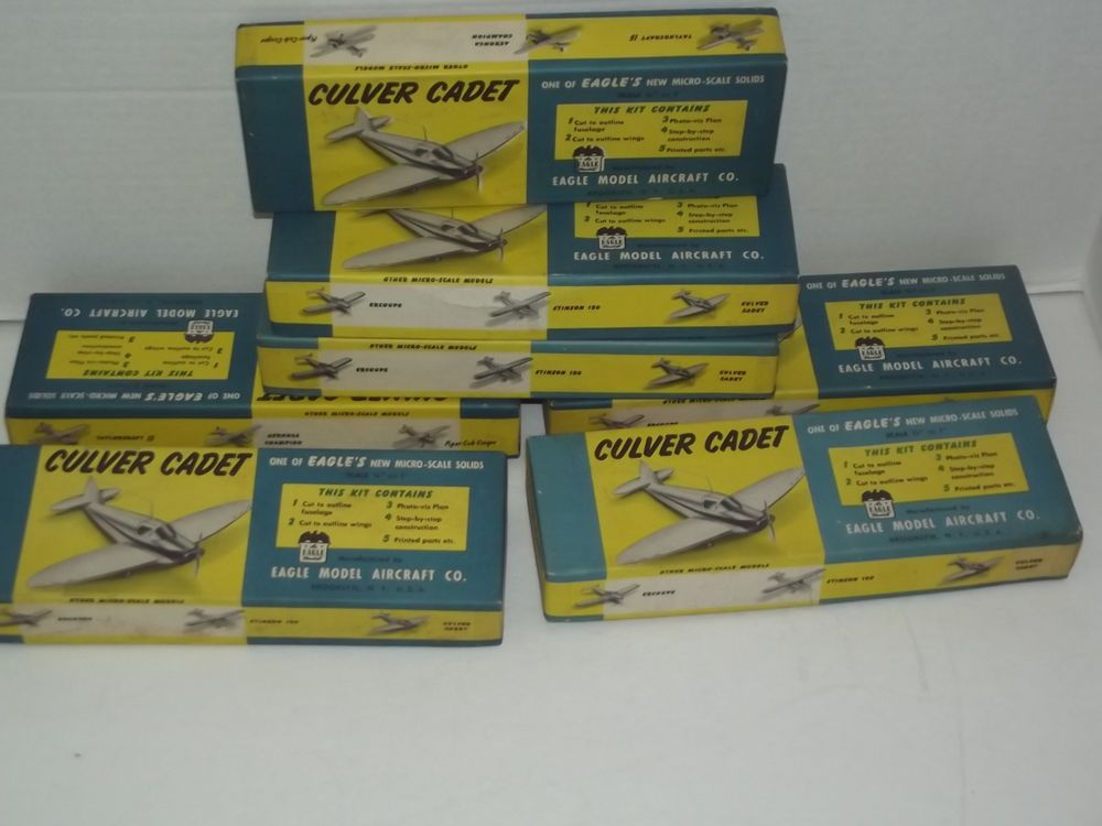 One NOS Vintage Eagle Model Aircraft Co Culver Cadet Plane