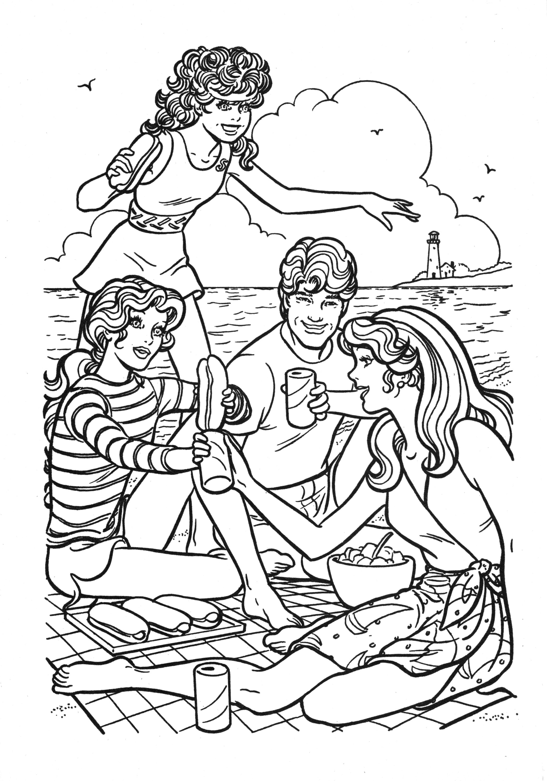 Barbie as the Princess and the Pauper coloring picture coloring