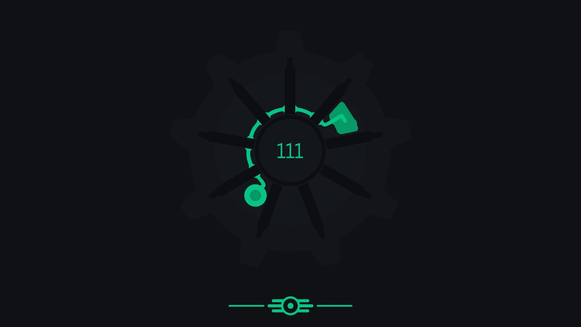 Fallout 4 Vault 111 minimalist wallpaper pack [4k] by CM2D on
