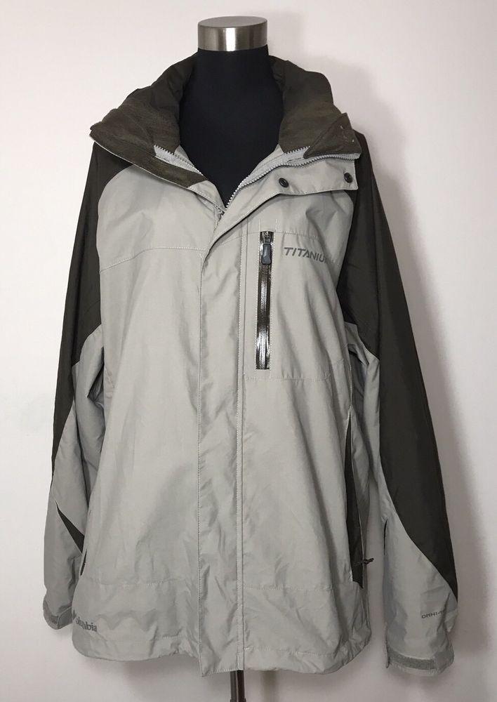 Columbia Jacket Mens Size XXL Brown Titanium Omni Tech