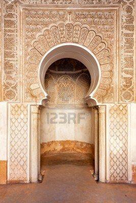 Marrakech madrasah walls ornament