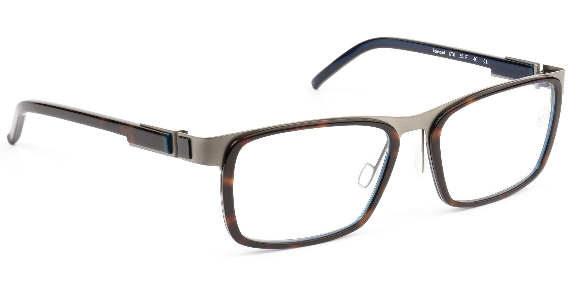 2944847560de De Stijl Holland 1924 eyewear  men eyeglasses frame LEENDERT in tortoise  shell brown with blue