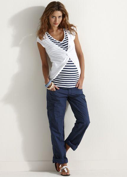 65cc9c20d48d8 Esprit - Navy Maternity Cargo Pants. Shop for casual maternity clothes at  Queen Bee
