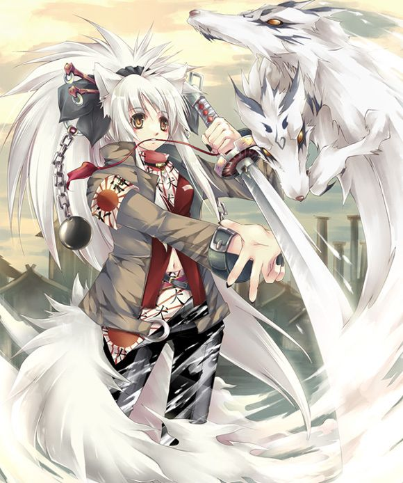 Pin By Laurel Pells On Collection Of Dragon Art Anime Wolf Girl