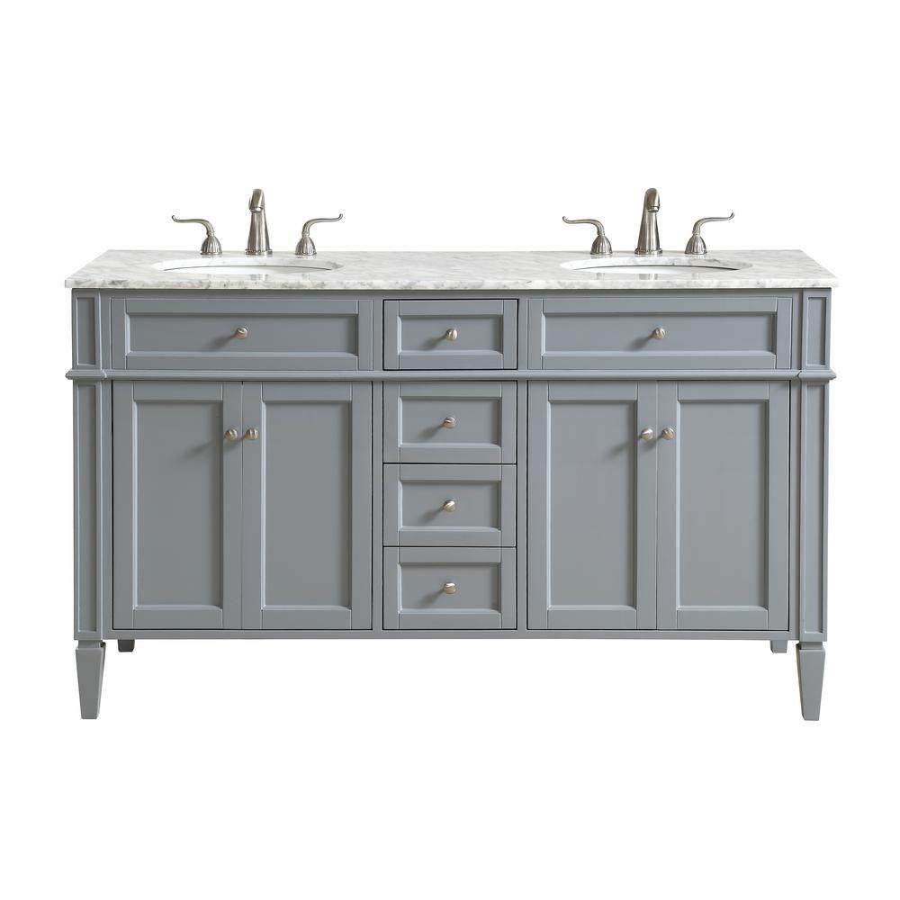 Nanticoke 60 In Double Bathroom Vanity With 4 Drawers 2 Shelves 4