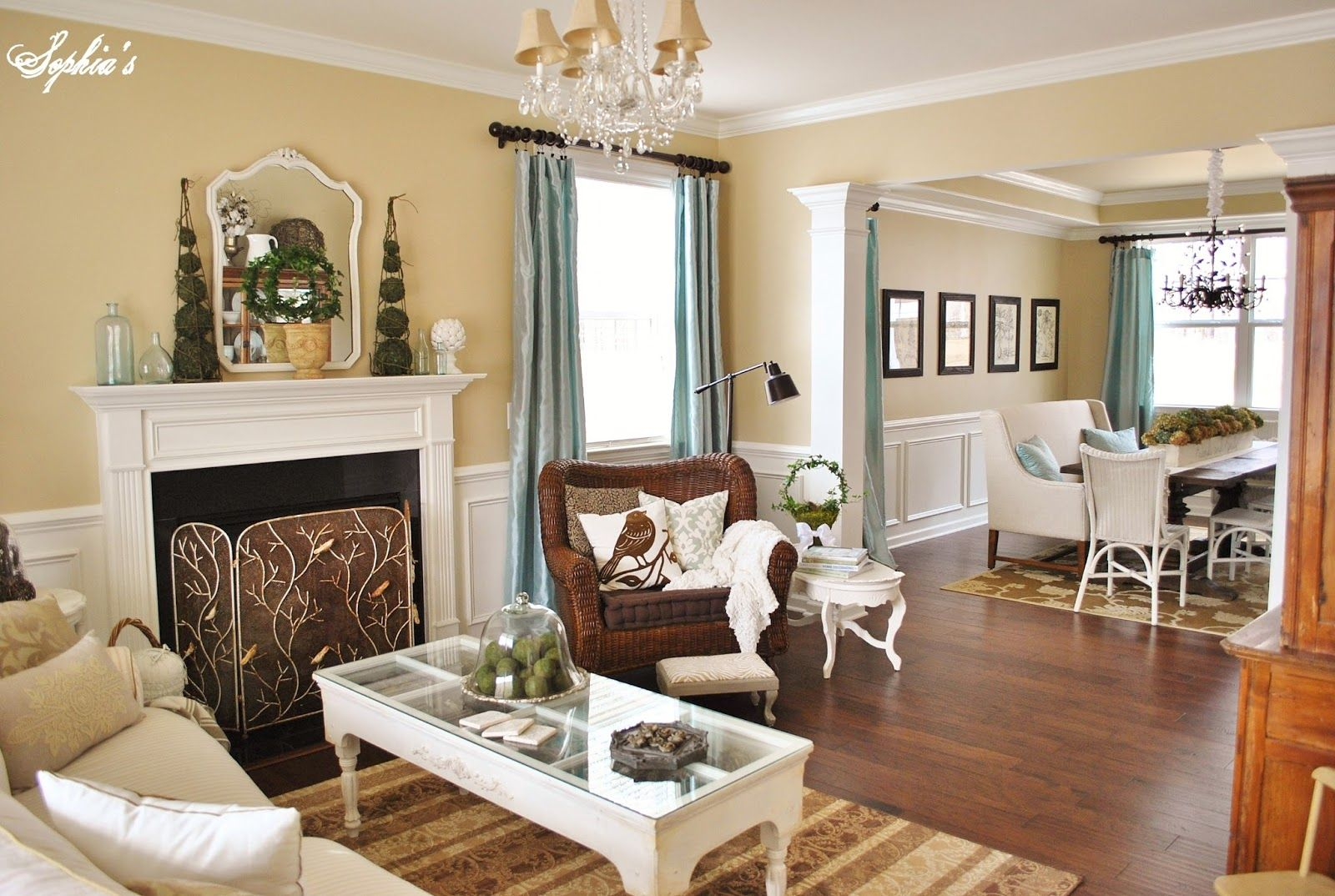 Martha Stewart Hickory Wall Color From HD Sophias Living Room