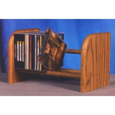 Wood Shed 100 Series 26 CD Dowel Multimedia Tabletop Storage Rack Finish: Unfinished