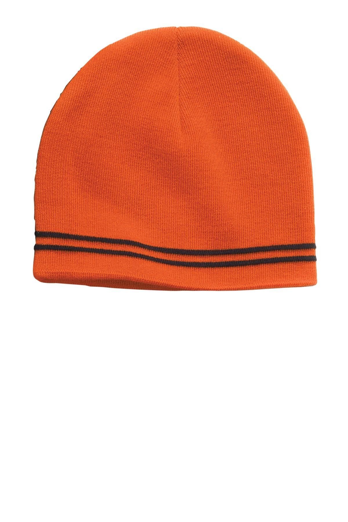 4939d0ae307 Sport-Tek Spectator Beanie STC20 Deep Orange  Black