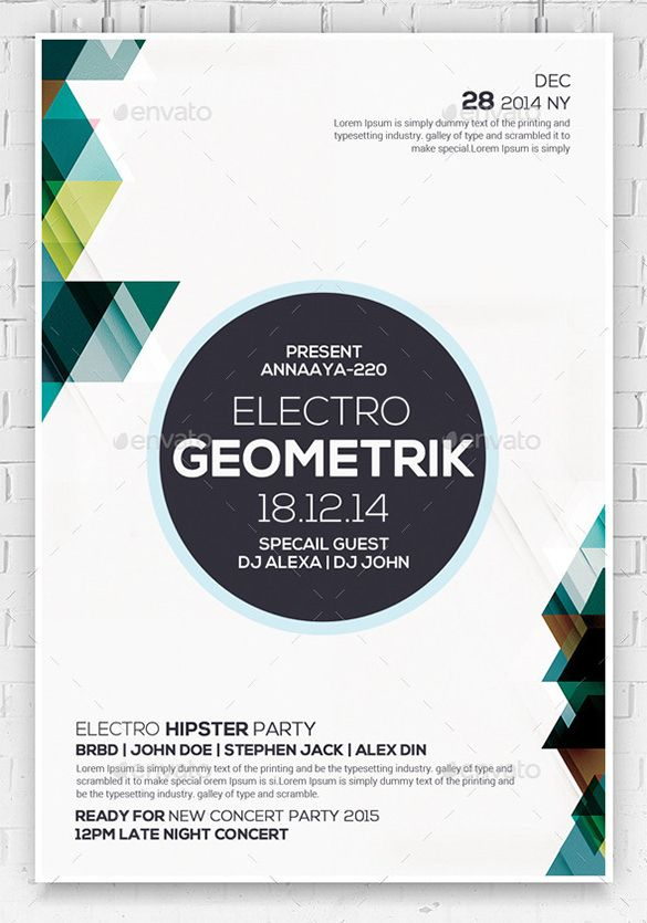 23+ Geometric Flyer Templates - Free PSD, EPS, AI, InDesign, Word - download free flyer templates word