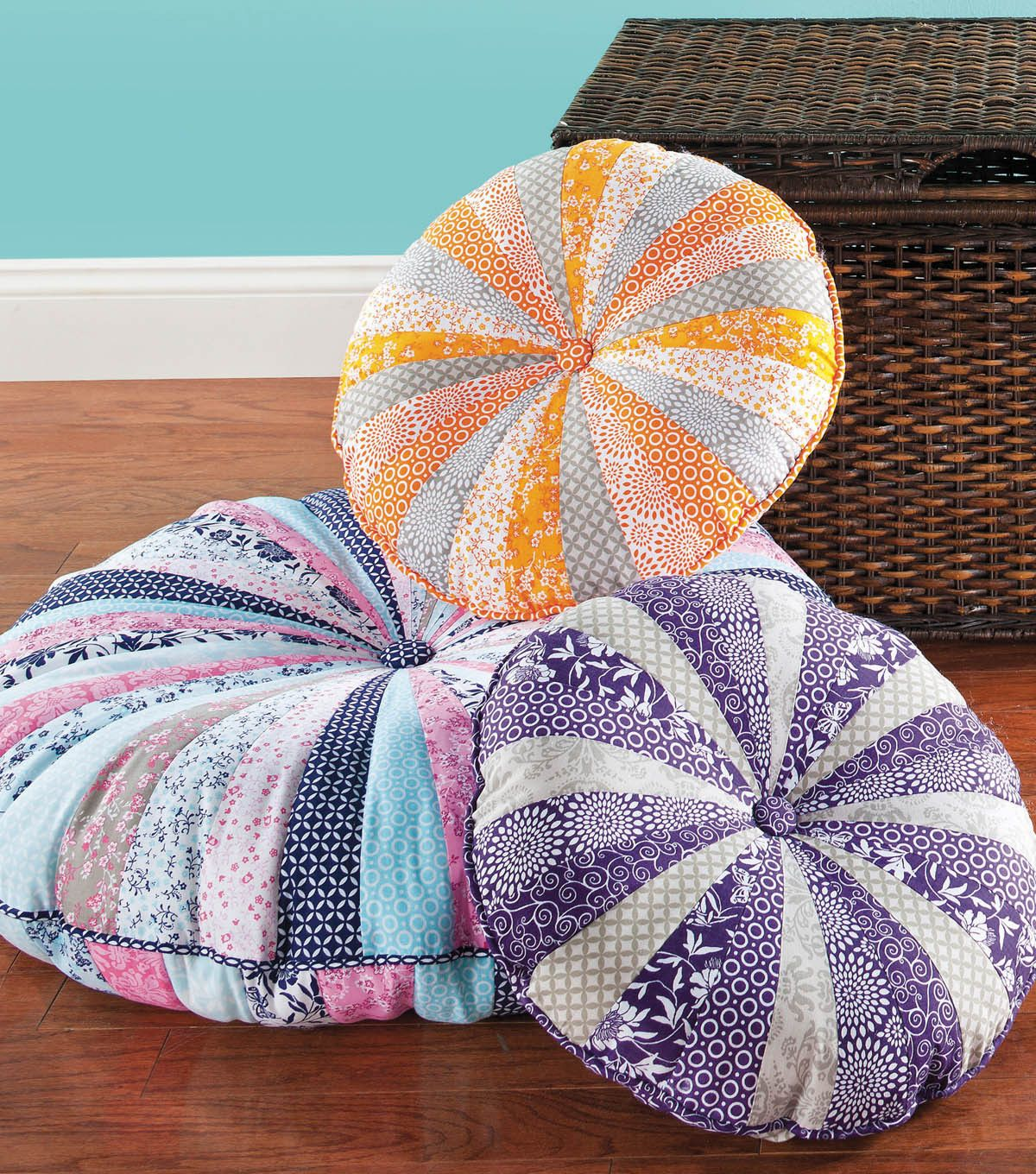 Sew a few of these floor pillows for extra seating or lounging ...