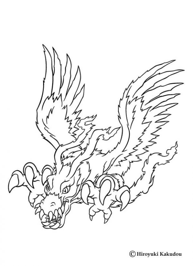 Digimon Birdramon coloring page. Discover all our Digimon coloring ...