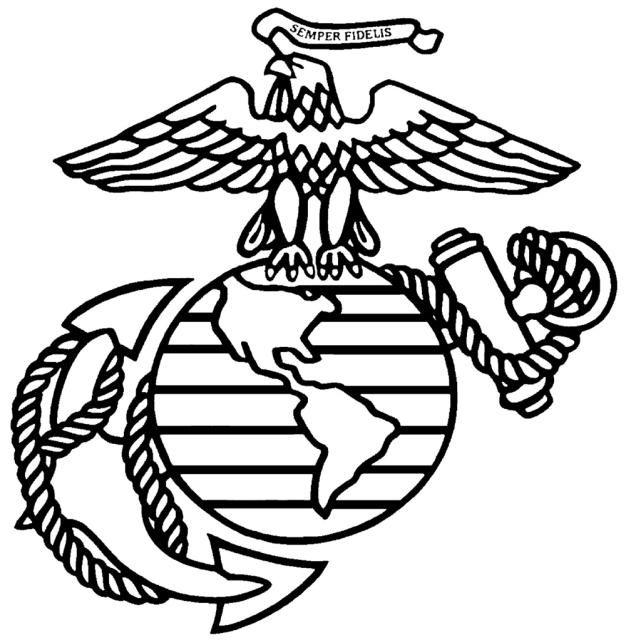 Ega Original Marines Logo Vinyl Decals Marine Corps Emblem