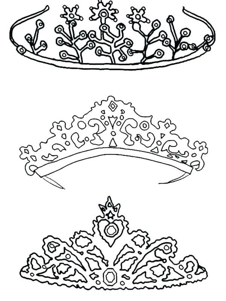 Queens Crown Coloring Pages For A King The Crown Is A Symbol Of