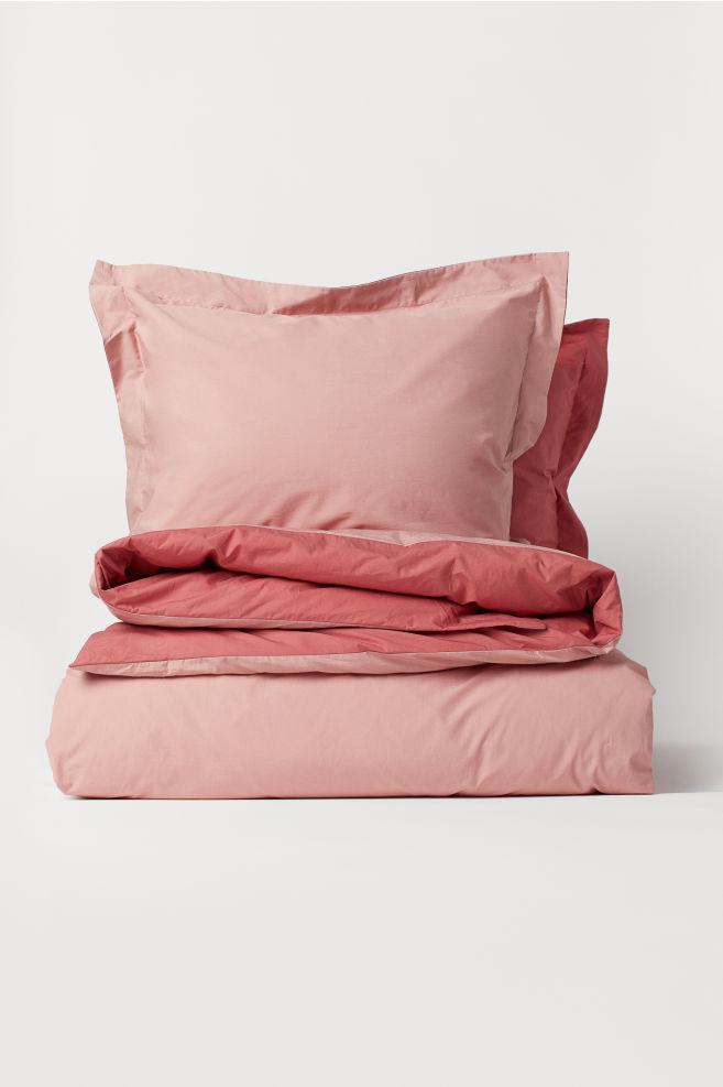 Cotton Percale Duvet Cover Set Dusky Pink Home All H M Us Duvet Cover Sets Pink Duvet Cover Pink Duvet