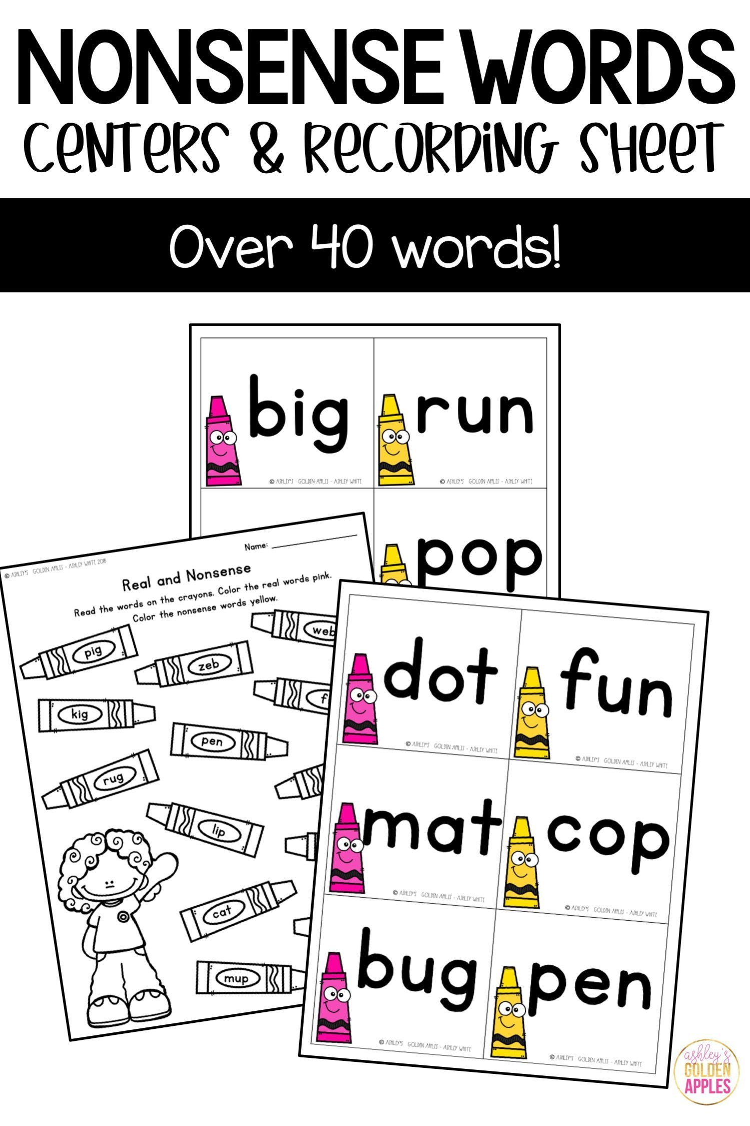 Nonsense Words Are A Great Way To Practice Sounding Out