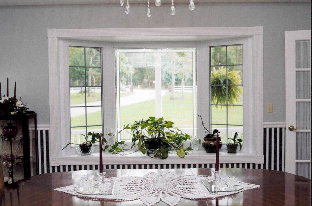 Bay Window Pics With Modern White Wooden Window Frames And