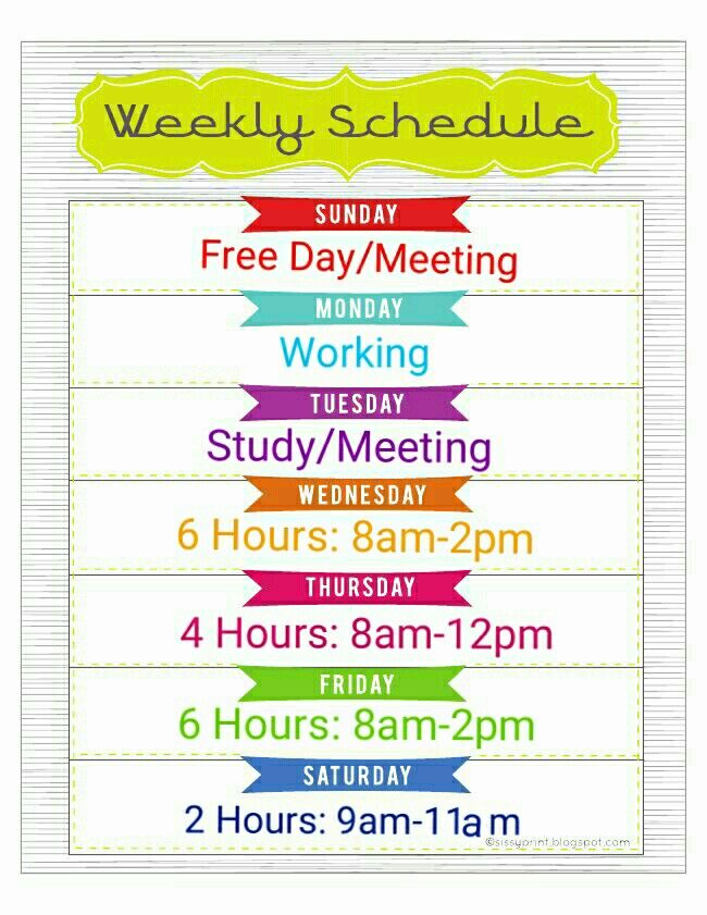 Pioneer schedule!!! Perfect for my part time working