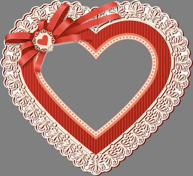 Открытки сердце рамки