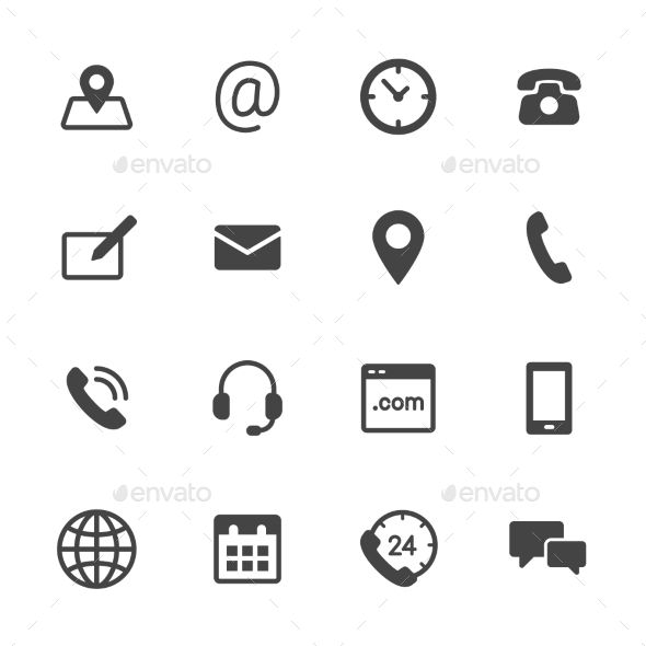 Pin by Cool Design on Best Icon Sets | Contact icons vector