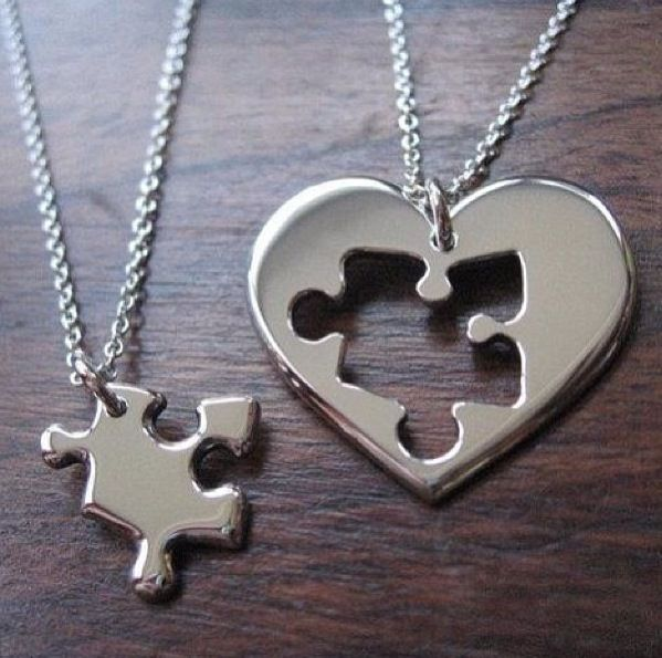 c4f2e17776288 Heart/puzzle piece necklace ❤ | Jewelry | Friend necklaces, Best ...