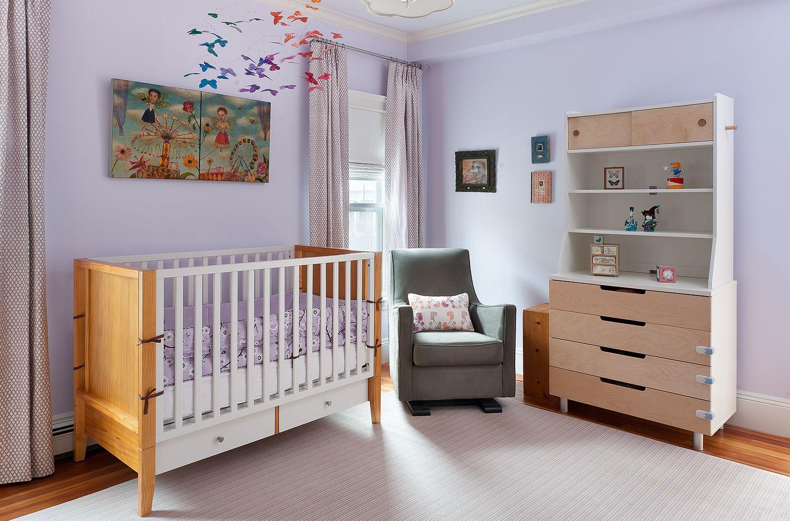 mandarina studio  boston  nursery  interior design  - cribs