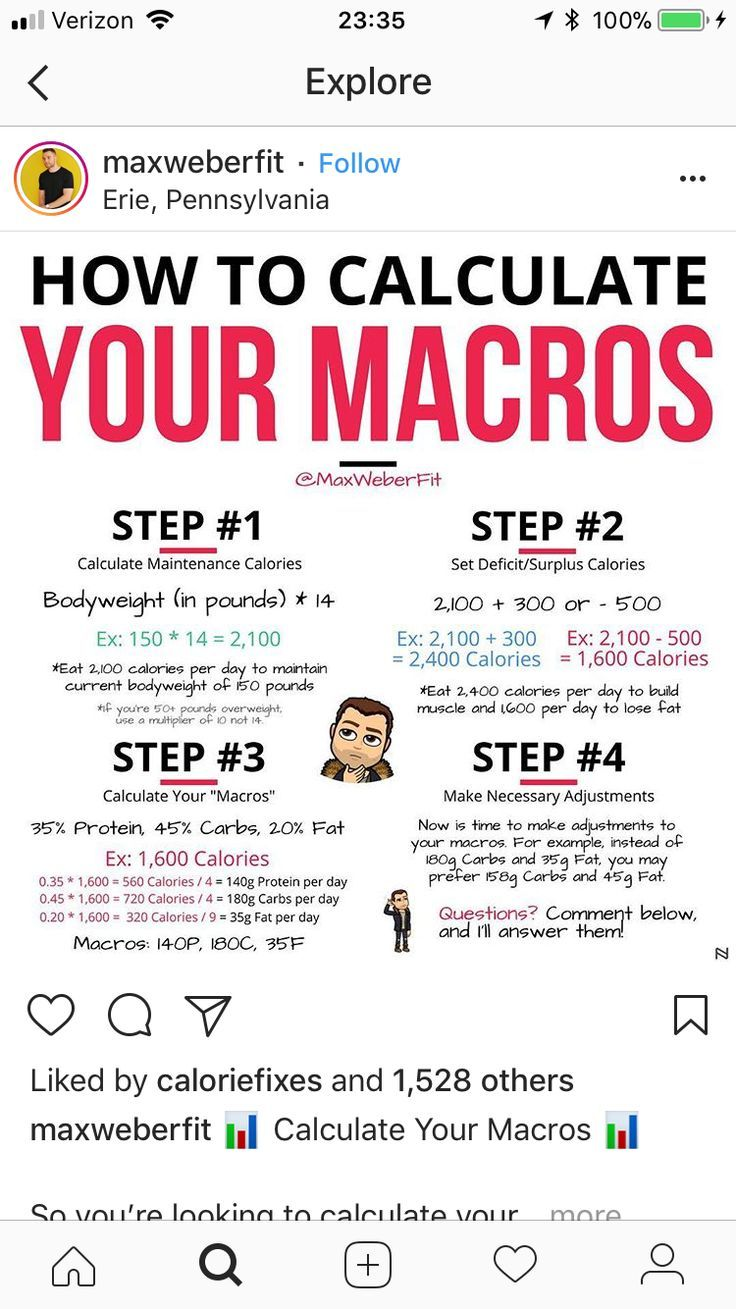 How to calculate your macros for a weight loss and muscle gain.