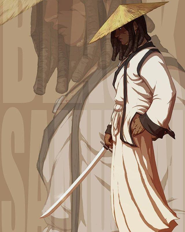 Nubiamancy On Instagram Black Samurai Illustrated By Foorayart Art Arte Artwork Artoftheda Black Anime Characters Samurai Art Black Art Pictures