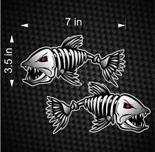 Digital Skeleton Fish Vinyl Decals For Boat Fishing Graphics - Vinyl fish decals for boats