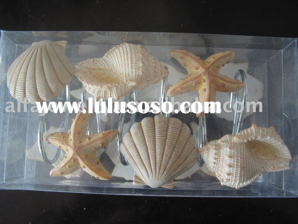 Seashell Shower Curtain Hangers