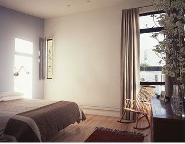 Serene Bedroom With Custom Curtains In Beige Modern Curtains