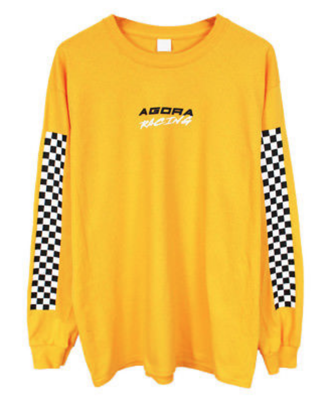 4c9b41565a0 FOR SALE  Agora Racing Long Sleeve T Shirt Top yellow palace vans thrasher  NEW
