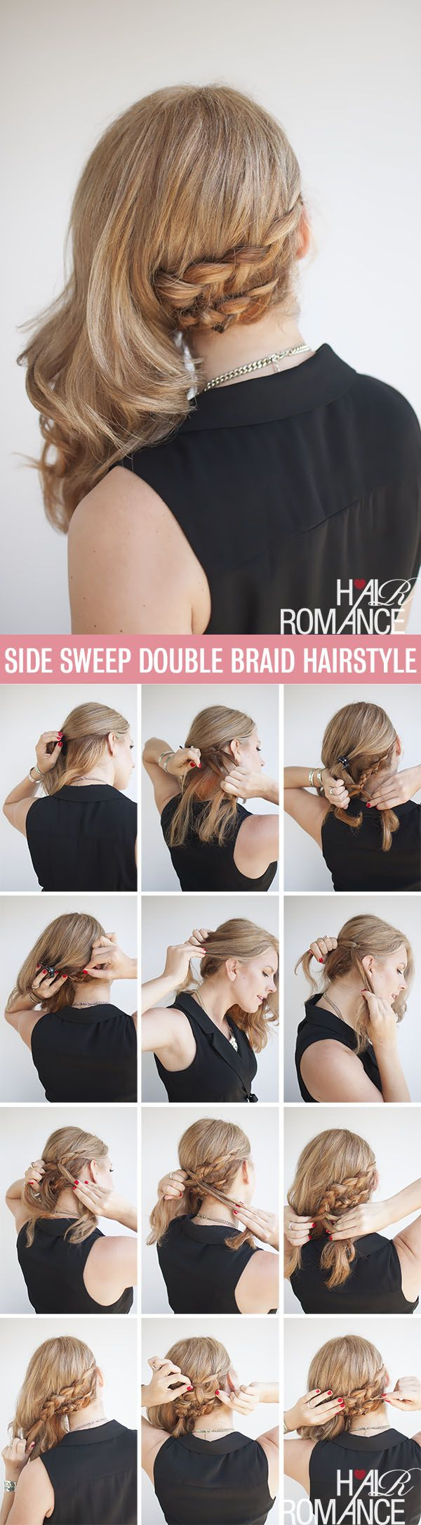 The compromise hairstyle half up and half out braid tutorial