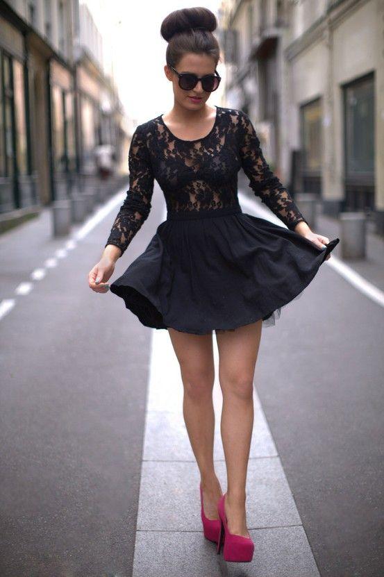 black lace dress red heels wwwpixsharkcom images