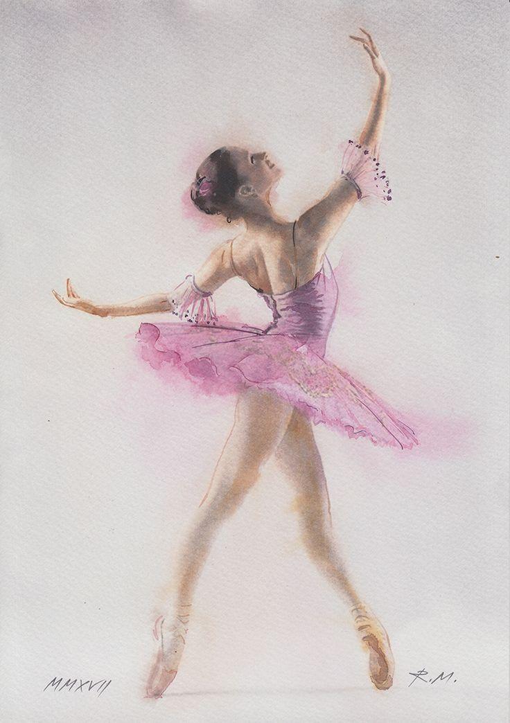 Картинки на которых нарисована балерина краской