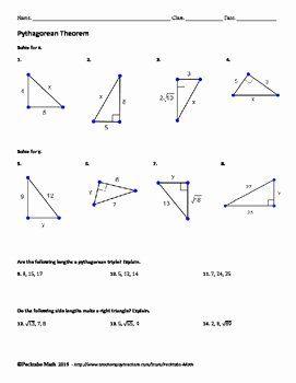 50 Pythagoras theorem Worksheet Pdf in 2020   Geometry ...