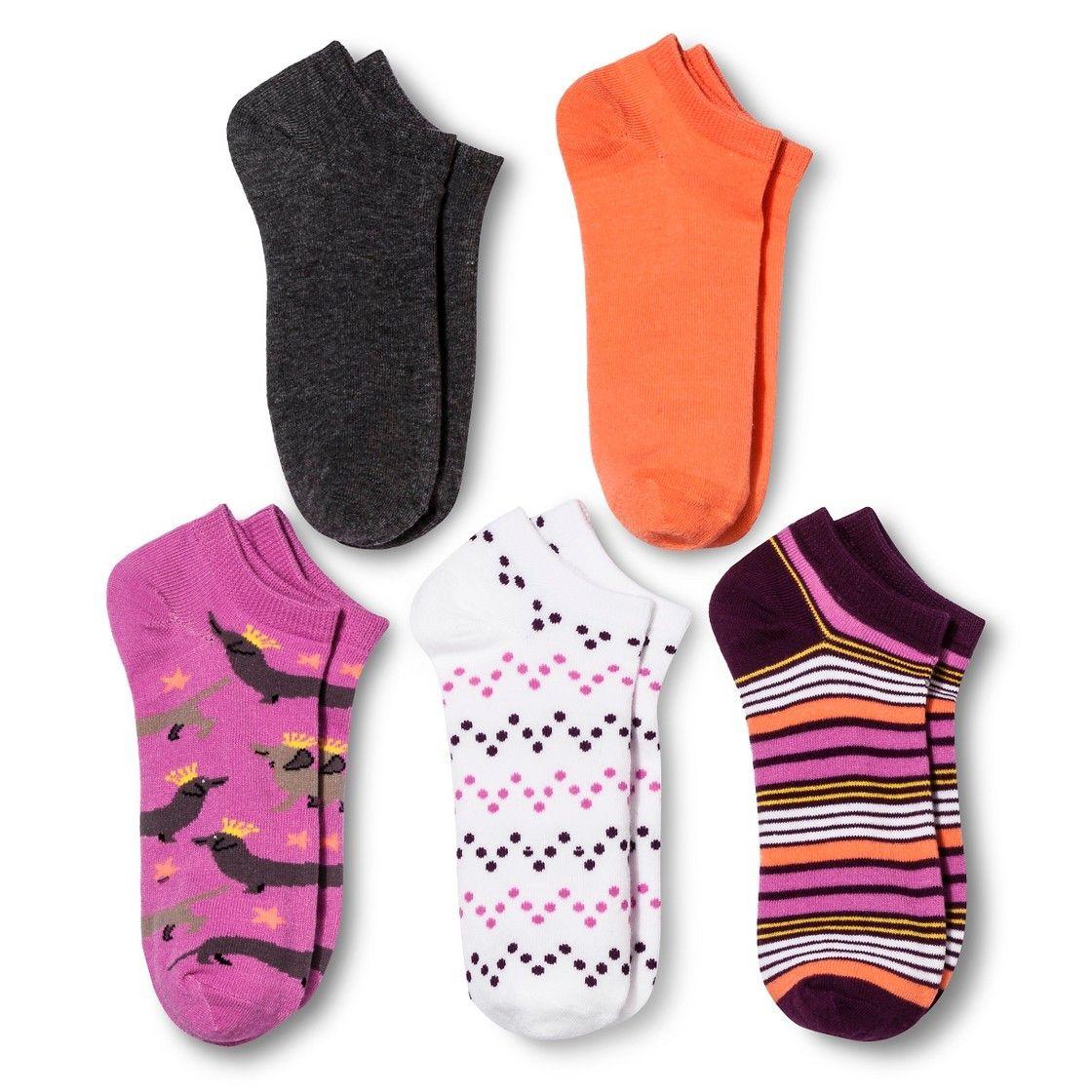 Women's Low Cut Socks 5pk Wiener Dog Kings 4-10 - Xhilaration  - Women's Low Cut Socks 5pk Wiener Dog Kings 4-10 - Xhilaration