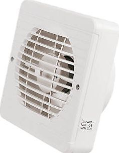 Manrose Tf150bp 25w Axial Pullcord Kitchen Fan Abs Thermoplastic White Square Grille Compliant With Part F O Kitchen Fan Extractor Fans Kitchen Extractor Fan