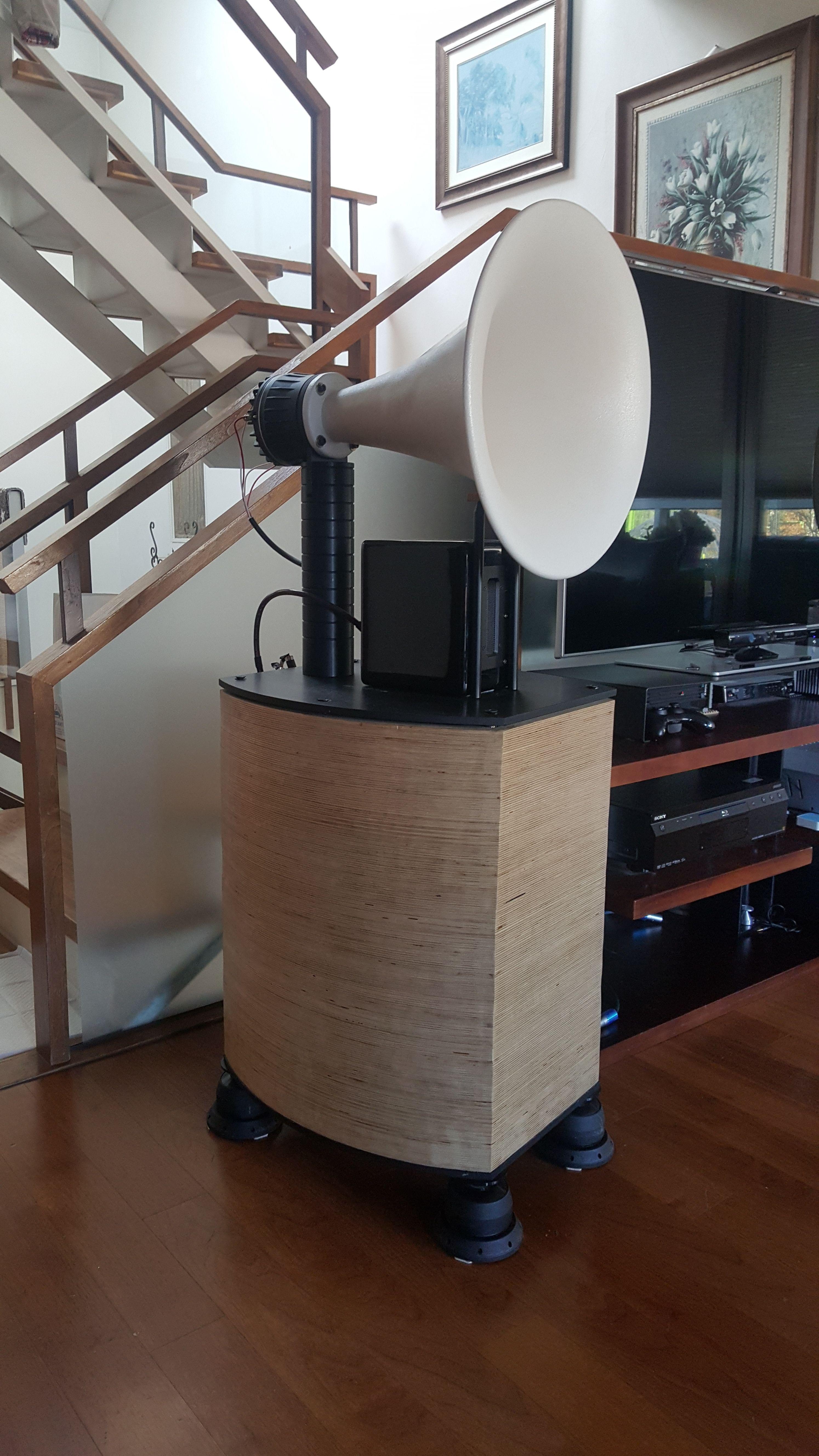 diy horn speaker BMS unit   Speaker design, Horn speakers ...