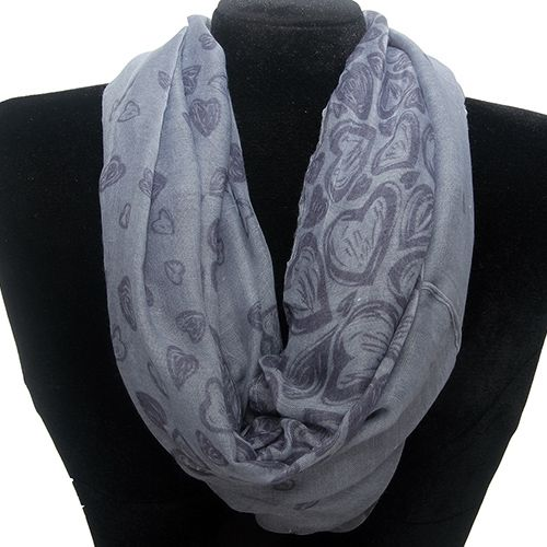 Heart Pattern Infinity Scarf Fashion Jewelry Wholesale